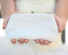 Ivory Vintage Beaded Cluch Purse Vintage Wedding by BeSomethingNew, $28.00
