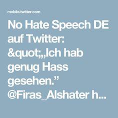 """No Hate Speech DE auf Twitter: """"""""Ich hab genug Hass gesehen."""" @Firas_Alshater hat Assads Foltergefängnisse überlebt und einen Neuanfang gewagt: https://t.co/Vji9SiKKiA https://t.co/lsKkd7axUM"""""""