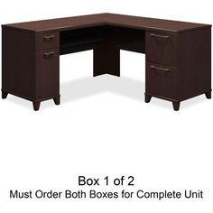 Bush Enterprise 60W x 60D L-Desk Box 1 of 2 - Mocha Cherry