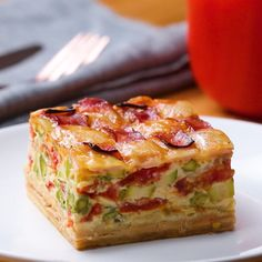 Ham And Cheese Lattice Quiche