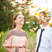 love the confetti!  Could be fun with glitter too!