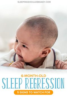 Has your baby been suddenly waking up at night crying or taking short naps? Check out these 6 month old sleep regression signs to look for. Kids Sleep, Good Sleep, Baby Sleep, 6 Month Old Sleep, Alone In The Dark, Sleeping Through The Night, Separation Anxiety, Bedtime Routine, 6 Month Olds