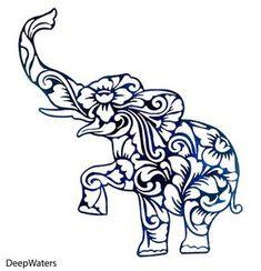 Bohemian Elephant – tattoos for women small Tribal Elephant Drawing, Elephant Tattoos, Elephant Art, Tribal Art, Mandala Elephant, Elephant Drawings, Elephant Stencil, Elephant Template, Small Elephant