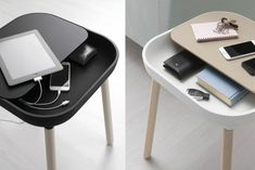 Gorgeous side table inspired by the look of app icons | Radice Orlandini Design Studio for Domitalia