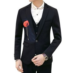 Elegant Black Mens Blazer with Flower Pattern #mens #blazer #elegant #blazersnap #black Get it http://www.blazersnap.com/blazersnap-luxury-clothes-blazers-collection/mens-selection/amazing-blazers-for-men-c-998349867.html