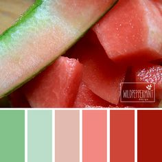 #Farbinspiration, #Farbpalette, #Melone, Sommer // © wildpeppermint-design.de