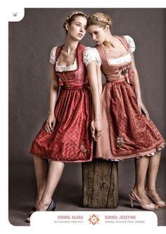 #Farbbberatung #Stilberatung #Farbenreich mit www.farben-reich.com Dirndl Clare, Frida red apron | Julia Trentini