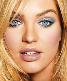 This makeup is gorgeous!  Almost makes me want blue eyes!