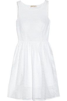 MICHAEL Michael Kors Broderie anglaise cotton dress | NET-A-PORTER