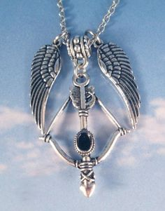 Daryl Dixon Walking Dead Necklace Crossbow Angel Wings or ...