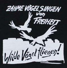 Zahme Vögel singen von Freiheit Wilde Vögel fliegen!