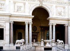 Rom, Viale Trinità dei Monti, Villa Medici, Loggia und Merkurbrunnen (loggia and Mercury fountain)