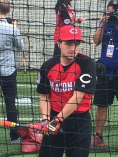 Josh at the Celebrity Softball game