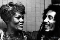 **Bob Marley** & Dionne Warwick, New York City, NY, USA, September 1980. More fantastic pictures, music and videos of *Robert Nesta Marley* on: https://de.pinterest.com/ReggaeHeart/