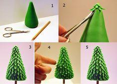 Weihnachtsbaum Handwerk - Lehm-Weihnachtsbaum