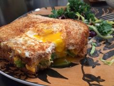 Egg in a Basket Avocado Grilled Cheese - The Joni Journey: Veg Recipes