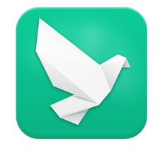 Colonizers need a way to communicate with one another exclusively without the colonized getting wind of their nefarious schemes. This direct messaging app for a microblogging site would be perfect for the job. It's got a cute icon that looks like an origami pidgeon, perhaps a carrier pidgeon that delivers messages. Clever. I like that the bird is facing right, suggesting forward progress. That's important for a messaging app, we want the messages we communicate to advance some sort of goal.