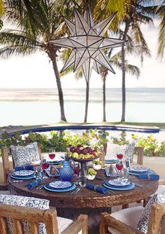 Beach Style Patio and Deck in Punta Mita, MX by Martyn Lawrence Bullard Design