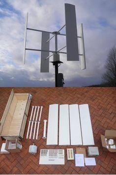 verticale windmolen doe het zelf pakket