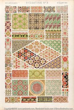"""Byzantine 3"" from Grammar of Ornament, Owen Jones"