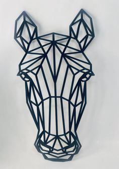 Geometric Wall Paint, Geometric Quilt, Geometric Drawing, Geometric Art, Horse Head Drawing, Metal Art Projects, String Art Patterns, Tape Art, Art Drawings Sketches