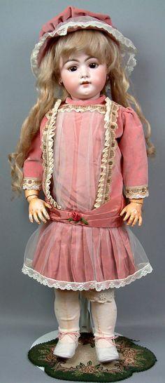 "BIG & BEAUTIFUL 28"" Early SIMON & HALBIG 1079 Antique Doll DISPLAY READY--LOOK! | eBay"