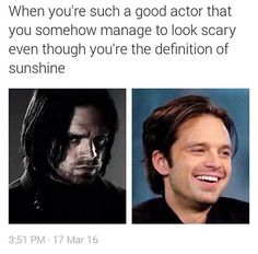 I've never seen such an amazing actor in my life... He can play a deadly cold assassin in the Captain America movies and a psychotic kidnapper on Once Upon A Time. Sebastian Stan is just so amazing!