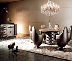 A futuristic design to add some innovation and RUSTIC colors to define luxury have been used to create this set of dining furniture. Dining Furniture, Modern Furniture, Furniture Design, Wordpress, Dining Room, Dining Table, Rustic Colors, Wholesale Furniture, Futuristic Design