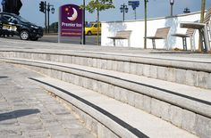 Worcester County Cricket Club and Premier Inn steps (Grey Textured)