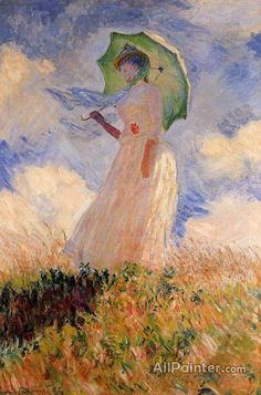 Woman with a Parasol - Claude Monet Jigsaw Puzzle. Woman with Parasol. Monet, Woman With Umbrella Jigsaw Puzzle. Claude Monet( French A Fine Art Jigsaw Puzzle. Monet Paintings, Impressionist Paintings, Abstract Paintings, Painting Art, Artist Monet, Landscape Artwork, Famous Artists, Oeuvre D'art, Art History