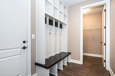 Built-in Lockers – Custom Homes in Des Moines, Urbandale, Waukee & Johnston - Accurate Development Inc.