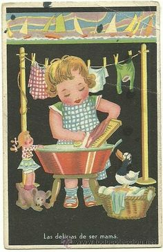 This is the way we wash our clothes Vintage Pictures, Vintage Images, Vintage Art, Vintage Laundry, Heart For Kids, Vintage Roses, Vintage Children, Vintage Advertisements, Brown And Grey
