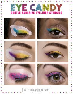 NEW from Beth Bender Beauty! Eye Candy Gentle Adhesive Eyeliner Stencils! WooHoo! X