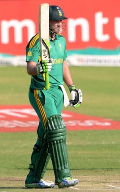 B de Villiers (SA) 95*, MoM, celebrates his half-century, vs Pakistan, 5th ODI, Benoni, March 24, 2013