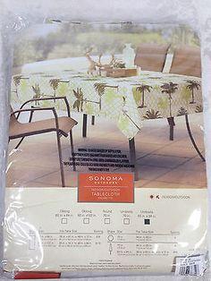 Palm Tree Tablecloth Umbrella 60 X 84 Oblong New | EBay
