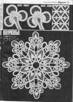 Romanian Point Lace pattern by Barbara Edwards Bartlett Crochet Flower Patterns, Lace Patterns, Crochet Motif, Crochet Doilies, Crochet Flowers, Crochet Lace, Dress Patterns, Needle Lace, Bobbin Lace