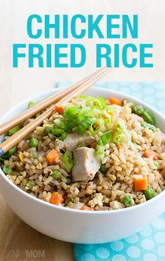 This skinny Chicken Fried Rice is better than the restaurants and only 252 calories!