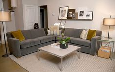 Room and Board - grey sofa