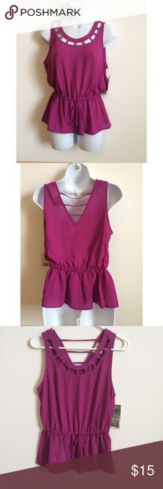Ambar for Target Sleeveless Blouse Love this top super cute, trendy and stylish! Look great with jeans, shorts or capris! NWOT!  100% Polyester.   Measurements: Armpit to Armpit: 17.5 Length: 25 Ambar Tops Blouses