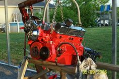 30 over 350, 292 crane cam, flat top piston,680 holly carb 350 turbo trans.