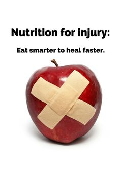 Learn how to use food and supplements to speed recovery from injuries-- and get back on your game more quickly:  http://www.precisionnutrition.com/nutrition-for-injury-part-1