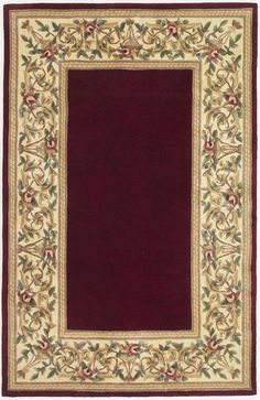KAS - Kas Ruby Floral Border Ruby 8979 Area Rug #30916
