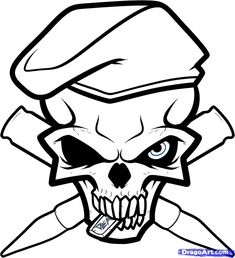 Pictures Of Skulls To Draw