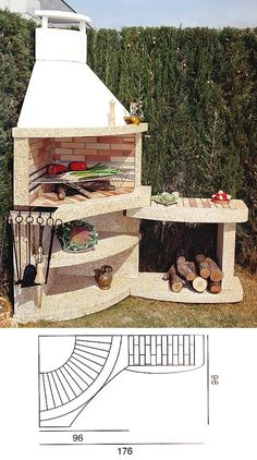 Landscaping With Rocks - How You Can Use Rocks Thoroughly Within Your Landscape Style Asador Barbecue Garden, Outdoor Barbeque, Pizza Oven Outdoor, Outdoor Fireplace Designs, Backyard Fireplace, Pergola, Gazebo, Backyard Projects, Outdoor Projects