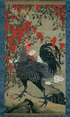 """Colorful Realm: Japanese Bird-and-Flower Paintings by Itō Jakuchū (1716–1800)"" @ NGA Washington - A.lain R. T.ruong"