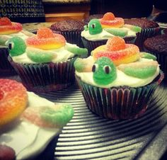 SeaTurtle CupCakes - Great for Under the Sea Theme.