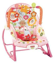 Toddler Rocker Infant Baby Comfort Sleeper Bouncer Swing Chair Seat Bunny Print