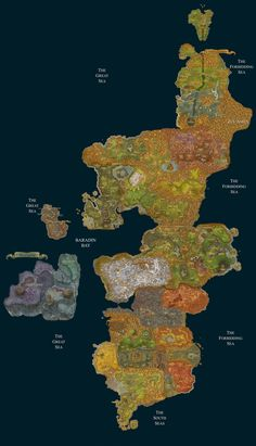 Azeroth: Full Map | Gaming and Geekery | Pinterest