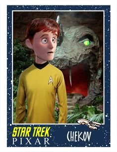 """This is what a Pixar """"Star Trek"""" reboot would look like: to boldly go to infinity and beyond! Canadian artist and illustrator Phil Postma gave the cast of Star Trek: The Original Series the animated treatment."""