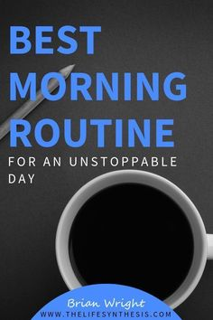 What is the best morning routine you can do to keep your schedule productive all day long? Everyday we battle getting things done with taking care of ourselves, and it's important to schedule life around us in the morning. The best way to do that is by cr Personal Development Books, Self Development, Good Habits, Healthy Habits, Healthy Routines, Morning Habits, Morning Routines, Self Discipline, Discipline Quotes